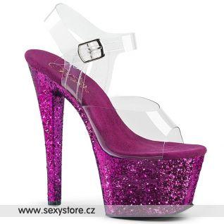 SKY308LG/C/PPG fialové taneční sandály