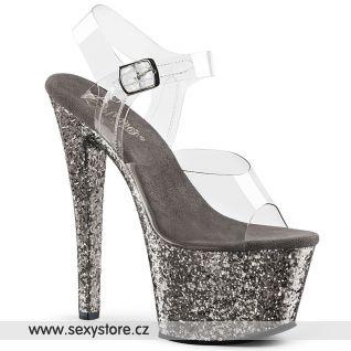 SKY308LG/C/PWG taneční sandály na vysokém podpatku a platformě