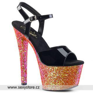 SKY309LG/B/RG Sexy boty na červeném podpatku a platformě