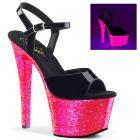 Růžové svítící sexy boty SKY309UVLG/B/NHPG