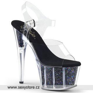 ADO708CG/C/BG Taneční sexy boty na vysokém podpatku a platformě