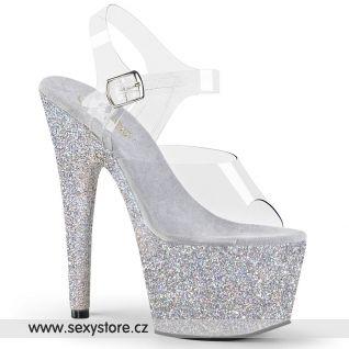 ADO708HMG/C/SG Stříbrné sexy boty
