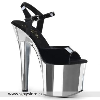 RADIANT-709 RAD709/B/SCH Černo stříbrné sexy boty