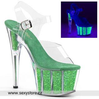 ADO708UVG/C/NGNG zelené svítící boty