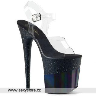 Černé sexy boty FLAM808-2HGM/C/BGHG