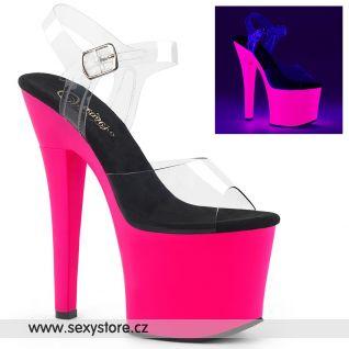 RADIANT-708UV RAD708UV/C/NHP Růžové svítící boty pro tanečnice go-go dance