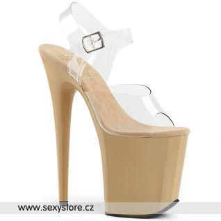 Tělové sandály extra vysoké podpatky FLAMINGO-808 FLAM808/C/CR