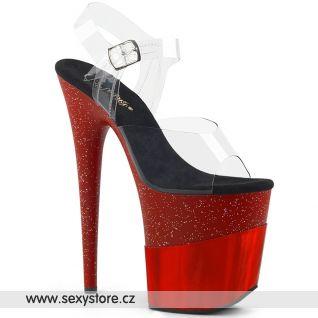 Červené sexy boty FLAM808-2HGM/C/RGHG