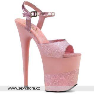 FLAM809-2G/BPG/M Světle růžové sexy boty