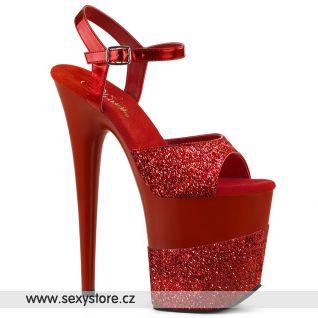 FLAMINGO-809-2G Červené sexy boty FLAM809-2G/RG/M