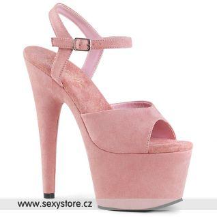 Růžové strip sexy boty ADO709FS/BPFS/M