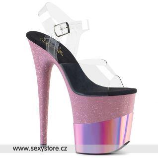 Růžové sexy boty FLAM808-2HGM/C/BPGHG