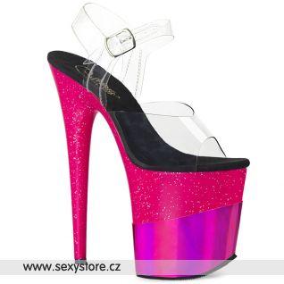 Žhavě růžové sexy boty FLAMINGO-808-2HGM FLAM808-2HGM/C/FSGHG