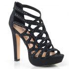 SELENE24/BFA Černé společenské boty na vysokém podpatku a platformě