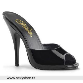 Pantofle černé lesklé SEDUCE-101/B