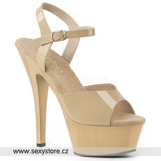KISS209/CR/M Tělové boty na podpatku a platformě