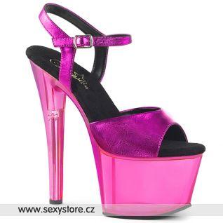 Fialové boty na podpatku a platformě SKY309MT/FSMPU/M