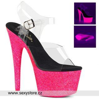 ADORE-708UVG ADO708UVG/C/NHPGT Růžové svítící sexy boty