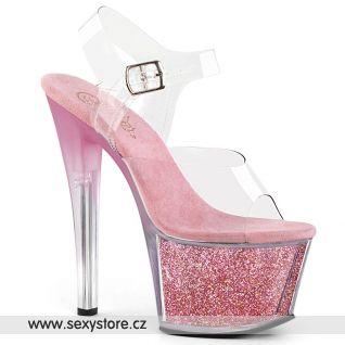 růžové taneční boty SKY308G-T/C/BPGI