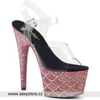 ADO708MSLG/C/SALG Růžové sexy boty