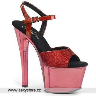 SKY309GPT/R/M Červené sexy boty