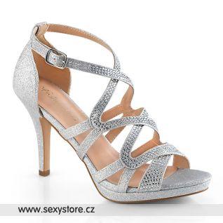 DAPHNE-42 DAPHNE42/SFA Stříbrné plesové boty