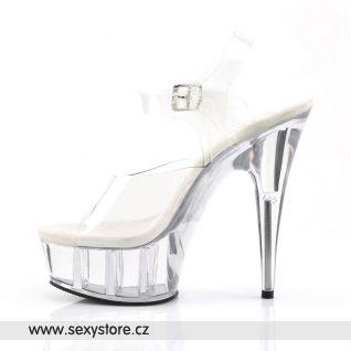 průhledná sexy gogo obuv DELIGHT-608