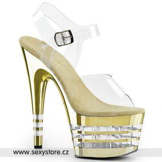 ADORE-708CHLN Zlaté taneční sexy boty ADO708CHLN/C/GCH