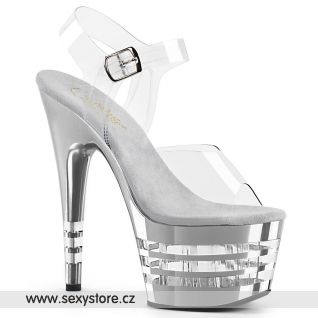ADORE-708CHLN ADO708CHLN/C/SCH Stříbrné sexy boty na pole dance
