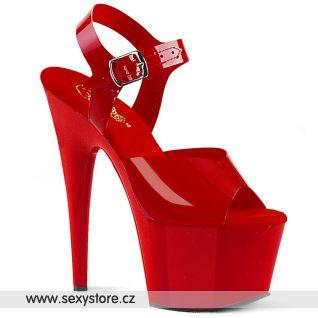 ADO708N/RTPU/M taneční červené lesklé sexy boty