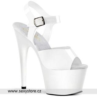 ADORE-708N ADO708N/WTPU/M taneční bílé lesklé sexy boty