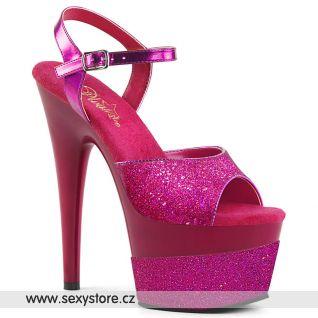 Tmavě růžové sexy boty ADORE-709-2G ADO709-2G/FSG/M