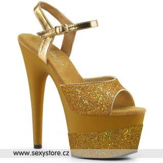 Zlaté sexy boty ADO709-2G/GG/M