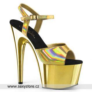 Zlaté sexy boty ADORE-709HGCH ADO709HGCH/GHG/GCH