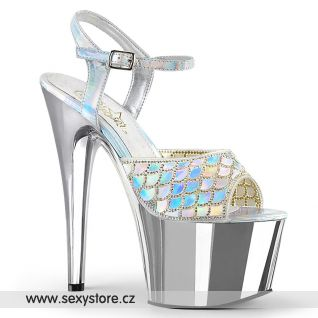 Stříbrné sexy boty ADO709MMRS/SHG/SCH