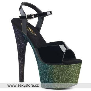 Tmavě zelené sexy boty ADO709OMBRE/B/EM-B