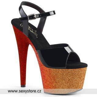 Zlato červené sexy boty ADO709OMBRE/B/GLD-R