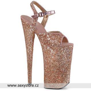 Zlaté boty na nejvyšším podpatku BEY010LG/ROGLDG/M