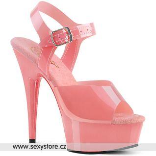 DELIGHT-608N DEL608N/BPTPU/M Růžové go-go sandály