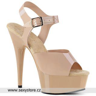DELIGHT-608N Tělové sexy sandály DEL608N/CRTPU/M