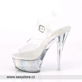 FLASHDANCE-208CH FDANCE208CH/C/SHG Svítící sexy sandály