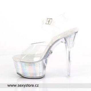 FLASHDANCE-608CH FDANCE608CH/C/SHG Svítící sexy sandály na vysokém podpatku