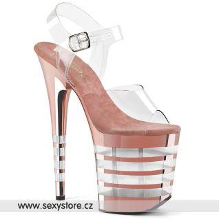 Růžové boty na extrémním podpatku FLAMINGO-808CHLN FLAM808CHLN/C/ROGDCH