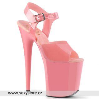 Růžové taneční boty s extra vysokým podpatkem FLAMINGO-808N FLAM808N/BPTPU/M
