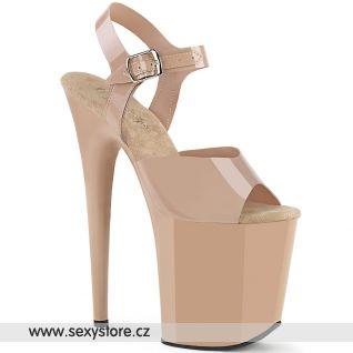 Tělové boty s extra vysokým podpatkem FLAMINGO-808N FLAM808N/CRTPU/M