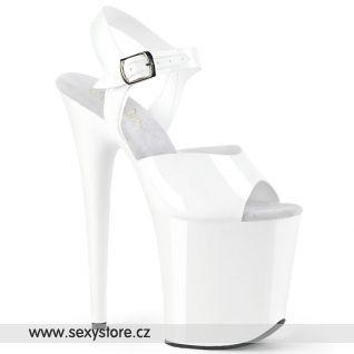 FLAMINGO-808N FLAM808N/WTPU/M Bílé boty s extra vysokým podpatkem