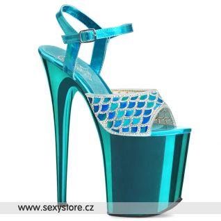 Tyrkysové boty na extra vysokém podpatku FLAMINGO-809MMRS FLAM809MMRS/TEHG/M