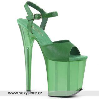 FLAM809T/GRNPU/M Zelené sexy boty na extrémním podpatku