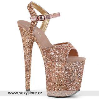 Zlaté boty na extra podpatku FLAM810LG/ROGLDG/M