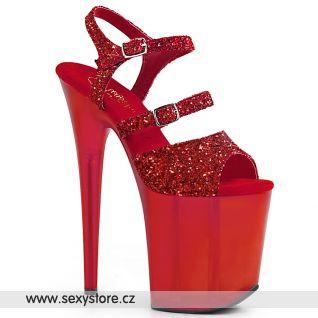Červené boty na extrémním podpatku FLAMINGO-874 FLAM874/RG/FROR